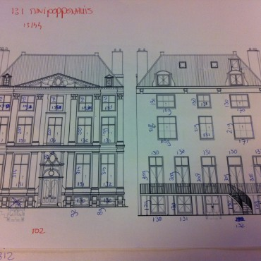 Technical drawings of the actual house are also used to make the doll house