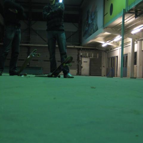 Our skateboarding room