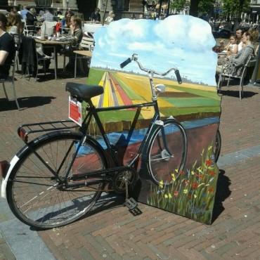 Public art installation in Leiden