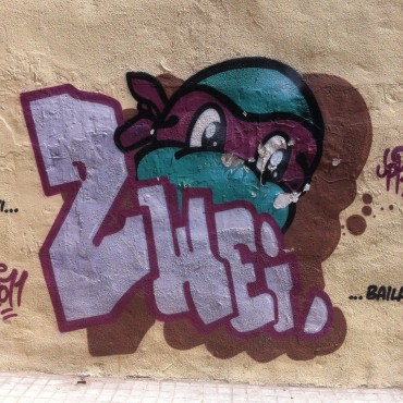 German grafitti in Valencia, Spain.