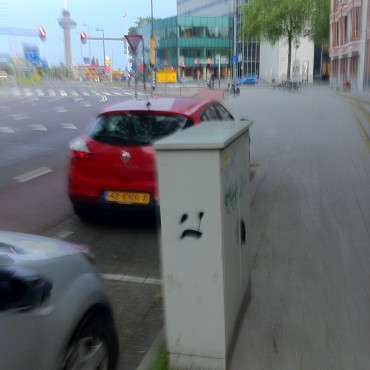 Upcoming smiley trend? in Rotterdam, the Netherlands.