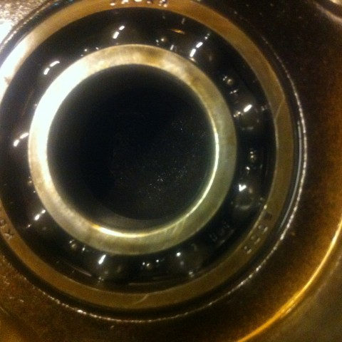 Also maybe replace other bearing that don