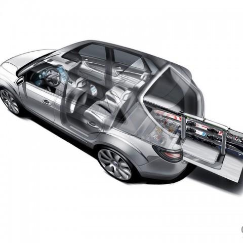 Saab 9-4X Ski storage concept