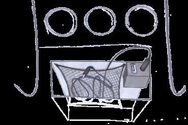'Spiderweb' wire storage concept for Saab