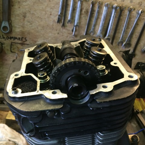 The cam chain was put back...